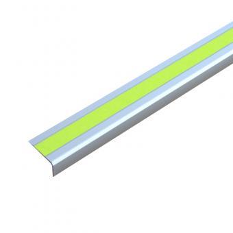 Antirutschtreppenkantenprofil Aluminium Signalfarbe, selbstklebend gelb 53x610x31mm