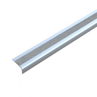 Antirutschtreppenkantenprofil Aluminium GlitterGrip, selbstklebend 53x800x31mm silber