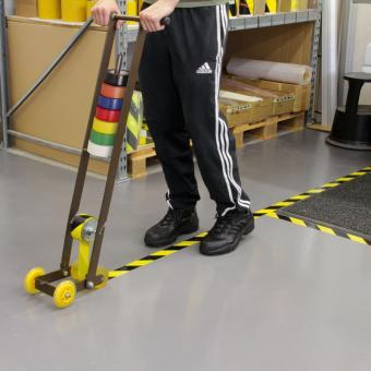 Bodenmarkierungsgerät für PVC Bodenmarkierungsbänder ohne Schutzfolie