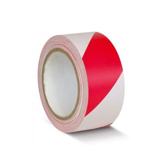 Bodenmarkierungsklebeband Standard rot/weiß
