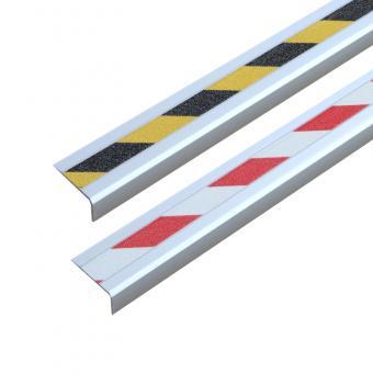 Antirutschtreppenkantenprofil Aluminium Warnmarkierung, schraubbar