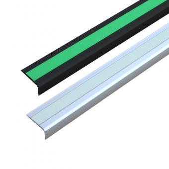 Antirutschtreppenkantenprofil Aluminium Nachleuchtend, schraubbar