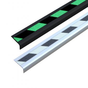 Antirutschtreppenkantenprofil Aluminium Nachleuchtend SG, schraubbar
