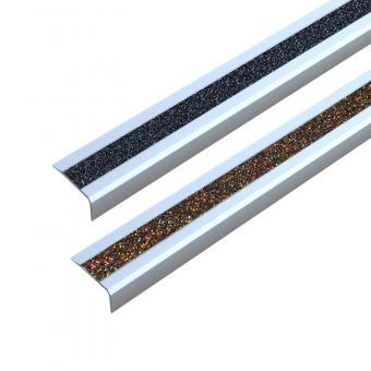 Antirutschtreppenkantenprofil Aluminium GlitterGrip, schraubbar