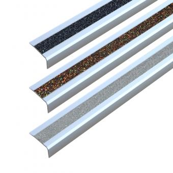 Antirutschtreppenkantenprofil Aluminium GlitterGrip, selbstklebend