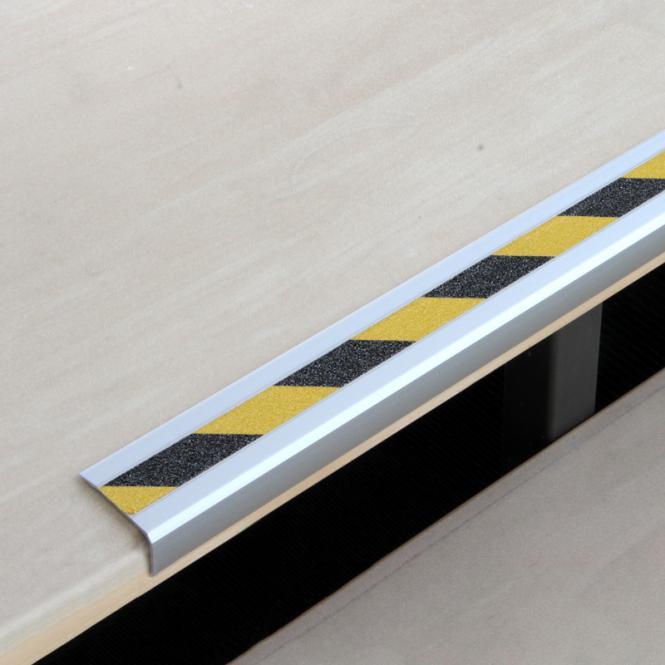 antirutschtreppenkantenprofil aluminium warnmarkierung