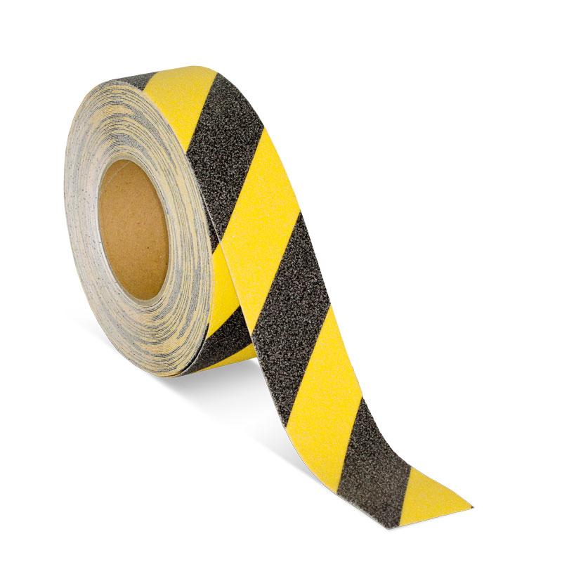 m2-Antirutschbelag Warnmarkierung schwarz//gelb Rolle 50mm x 18,3m
